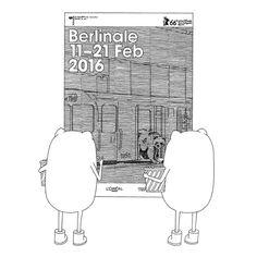 Die Genießer freuen sich auf die Berlinale - Berlin International Film Festival #diegeniesser #geniessen #vorfreude #kino #film #berlinale2016 #plakat #cinema #drawing #illustration