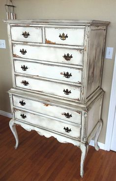 Beautiful distressed antique dresser by TheMuffincupBoutique, $1,300.00