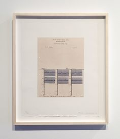 Brian O'Doherty, Portrait of Marcel Duchamp: Mounted Cardiogram, 1966/2012, Ink and typescript on paper, 11 x 8 1/2 in.