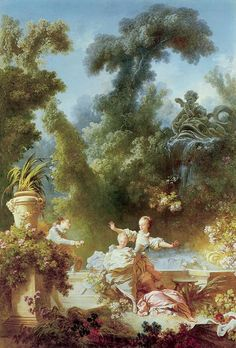 fragonard....Mom loved this print & when I saw it at the National Gallery of Art in DC I brought home a HUGE print for my boudoir
