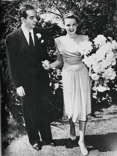 """Judy Garland on her wedding day in the summer of 1945, just after completion of the film """"The Harvey Girls"""". She married Vincente Minneli, who directed her in """"Meet Me in St. Louis"""" and """"The Clock""""."""