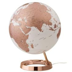 Waypoint Geographic Light and Color 12 in. Copper Designer Series Desktop Globe - The Home Depot Gold Room Decor, Rose Gold Decor, Gold Bedroom, Bedroom Decor, Bedroom Sets, World Globe Map, World Globes, Rose Gold Rooms, Deco Rose