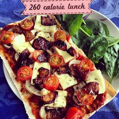 Haloumi, Mushroom, Cherry Tomato Pizza on Mountain Bread