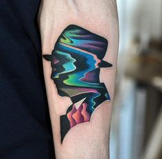 2017 trend Geometric Tattoo - 40+ Unique Forearm Tattoos for Men With Style - TattooBlend