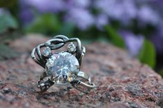 Crab ring, Ring with crab, Crab, Animalism, Animalism style, Style of animalism, Crab in silver, Sterling silver ring, Ring with blacking by OnlyForDaring on Etsy