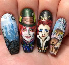 Day 275: Wonderland Nail Art
