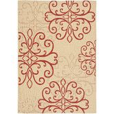 Safavieh Courtyard Collection Cream and Red Indoor Outdoor Area Rug 6 7 x 9 6 - Outdoor Rugs On Deck Coastal Area Rugs, Indoor Outdoor Area Rugs, Outdoor Living, Outdoor Patios, Outdoor Rooms, Outdoor Furniture, Outdoor Decor, Red Rugs, Cool Rugs