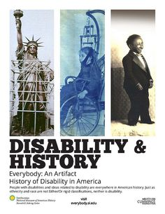 Six different posters relating to our online exhibition are available for free download. You can select English, Spanish, full color, or black and white. #disabilityhistory