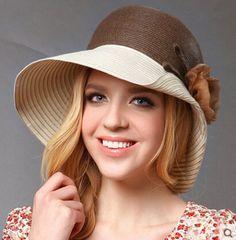 Elegance flower straw sun hat for women package design