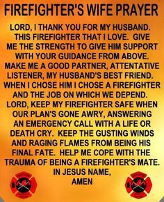 firefighters wife.... Yep I'm one proud firefighter wife and a firefighter myself :-D