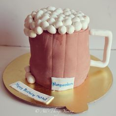 Birthday Cakes for Boys - Beer Mug Fondant Cake | All Things Yummy #beer #beermug #cake #chocolatecake #froth #handle #carvedcake #atyummy #customisedcake #beerlovers #hoegaarden #designercake #desserts #delhibakery