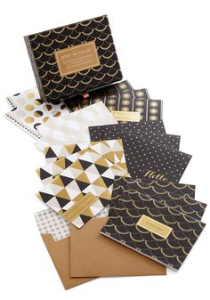 Stationery of the Art Notecard Set. Send each of your heartfelt correspondences in swanky, eyecatching style with this set of art-deco-inspired notecards from Chronicle Books. #multi #modcloth