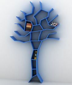 Tree Bookcase by Roberto Corazza - Click image to find more Art Pinterest pins