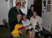 Jim Andree larry Mable Marilyn at Barbs xmas eve
