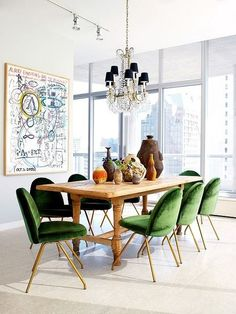 Traditional Dining Table with Modern Chairs. 20 Traditional Dining Table with Modern Chairs. Look We Love Traditional Table Plus Modern Chairs Velvet Dining Chairs, Eclectic Dining, Interior Design, Dining Chairs, House Interior, Interior, Room Design, Dining Room Decor, Dining Room Inspiration