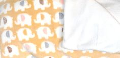 Elephant print plush handmade baby blanket  great by TulipTaffy, $40.00