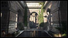 Ryse - Son of Rome - Roman bath, Finn Meinert Matthiesen on ArtStation at https://www.artstation.com/artwork/3b5Qv