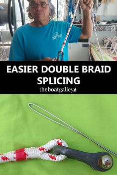 An Easier Way to Splice Double Braid - Make your own fid and have an easier time with your next double braid eye splice. Learning from the local rigging shop! Make A Boat, Build Your Own Boat, Diy Boat, Splicing Rope, Sailing Knots, Survival Knots, Boating Tips, Knots Guide, Nautical Knots