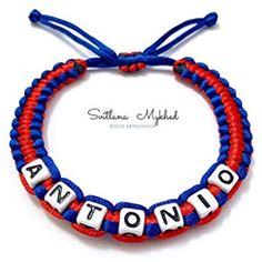 644fbe5248a2 Pulsera personalizable ANTONIO con nombre mensaje para adulto niño bebé  recién nacido  Productos Handmade