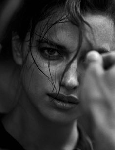 Walking, Irina Shayk by Peter Lindbergh for Vogue Italia October 2016