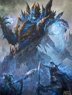 Artist: Yin Yuming (Yiron Design Studio) - Title: Unknown - Card: South Pole Ice Djinn (Blizzard)