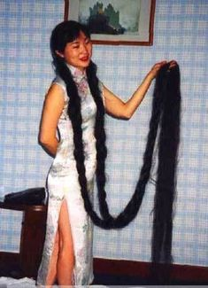 The added weight from long hair on the top of the head puts pressure on already struggling neck extensors.