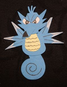 Gotta Craft Them All challenge dag 119: #Seadra #Pokemon https://www.facebook.com/Lysettes.stampin.universe