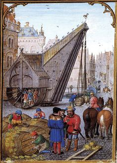 Simon Bening : Labors of the Months: October, from a Flemish Book of Hours (Unknown) シモン・ベニング Medieval Crafts, Medieval Books, Medieval Life, Medieval Manuscript, Illuminated Manuscript, Medieval Market, Renaissance Kunst, Medieval Paintings, Late Middle Ages