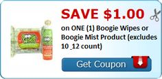 $1 off ONE Boogie Wipes or Boogie Mist Product