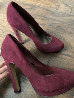 9339b6ffa4db only on poshmark  amp  depop• dress heels•burgundy• velvet• size 7.5