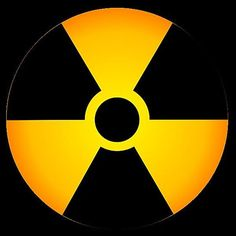 Science Laboratory Safety Signs: Radiation Symbol