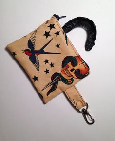 Roller Derby Mouthguard Case  Vintage Tattoo by ArmrdRoseDerby, $8.00