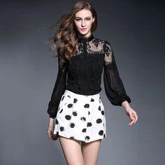 Black Lace Women's shirt