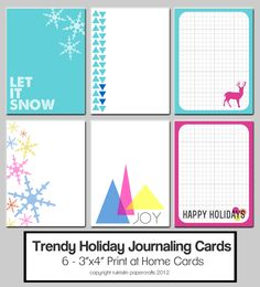 Image of Trendy Holiday Journaling Cards (digital)