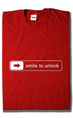 Camiseta Smile to Unlock