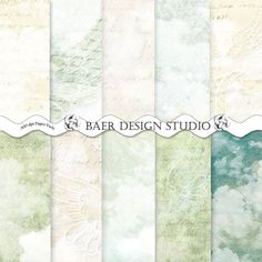 Mixed media paper- these instant download, printable papers work well for mixed media projects because they include cloud patterns, script, watercolor/textured/distressed grunge backgrounds.