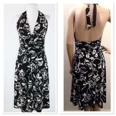 🎉HP 9/3/16🎉 Floral Print Halter Dress 🎉Fashion Favorites HP on 9/3/16 by @amywhip🎉 Worn a few times in excellent condition. Just one small spot back bottom of dress as pictured. Sz small best fits 6-8 not too lg busted. Beautiful for so many occasions from weddings to date night to cocktail parties. ✂️PRICE CUT x4 9/19/15✂️ White House Black Market Dresses