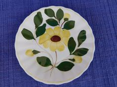 Yellow Nocturne BREAD PLATE Blue Ridge Southern Pottery - have 100's of B Ridge #BlueRidgeSouthernPottery