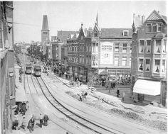 West Kruiskade, gezien vanaf het Tiendplein (jaartal: 1945 tot 1950) - Foto's SERC