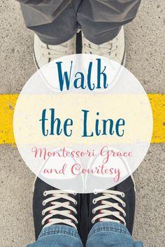Montessori Grace and Courtesy Walk the Line Lesson