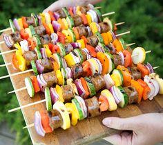 BBQ Buffalo Kebabs