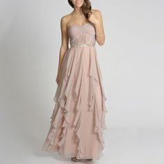 @Overstock.com - Decode 1.8 Women's Cascading Ruffle Gown - Be the belle of the ball in this gorgeous long, flowing evening gown. Featuring a beautifully tiered skirt that falls in the most graceful way and a soft, inviting hue, this lovely dress can be paired with jewels of any color for a sophisticated look.  http://www.overstock.com/Clothing-Shoes/Decode-1.8-Womens-Cascading-Ruffle-Gown/8028227/product.html?CID=214117 $176.99