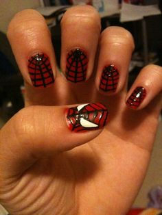 spiderman nail art!