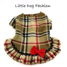 Camel London Plaid Dog Fleece Sweater Dresses by LittleDogFashion Dog Fleece, Fleece Sweater, Dog Sweaters, Hairless Dog, Dog Clothes Patterns, Pet Boutique, Dog Diapers, Dog Dresses, Sweater Dresses