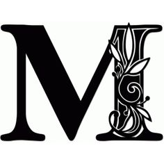 Silhouette Design Store - Search Designs : monogram m