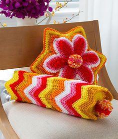 Craft Passions: Brighter Days Pillows..# free #crochet  pattern li...