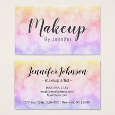 Makeup Artist Fun Chic Glam Business Card - artists unique special customize presents