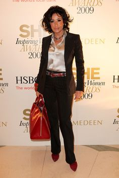 Nancy Dell'Olio Photos - SHE Inspiring Women Awards 2009 - Zimbio Suits You, Suits For Women, Tracey Emin, London Fashion Week Mens, Celebs, Celebrities, Office Outfits, Front Row, Awards