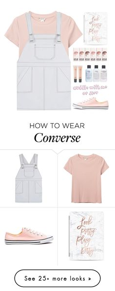 """""""Scholl"""" by jasmimestefany on Polyvore featuring Monki, philosophy, MAC Cosmetics, Casetify and Converse"""