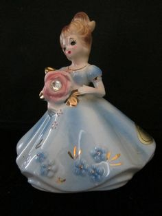 Vintage Josef Original April Birthday Figurine <3